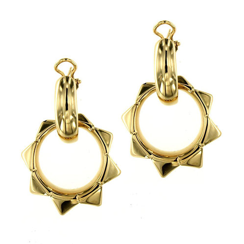 OR9262G Golden Silver Earring Studio 54 Collection