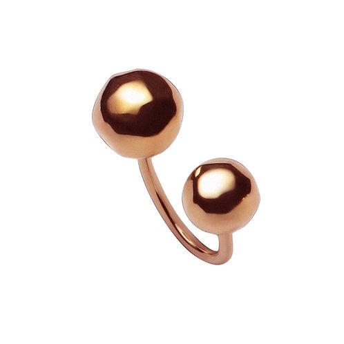 AN8550R  Golden Rose Balls Ring