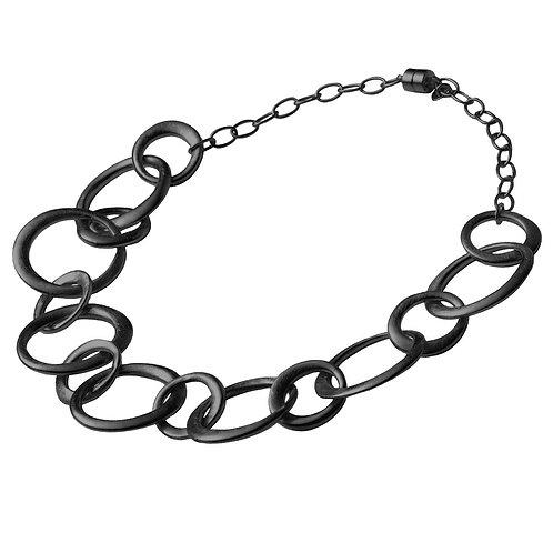 Black Rhodium Silver Chain Neclace