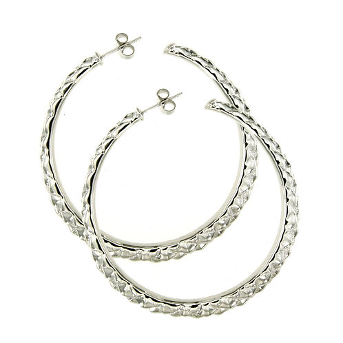 OR-5831B-Silver Earrings-Studio 54 Collection