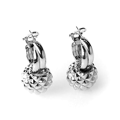 OR5749B PITTIeSISI Rhodium Silver Earring Studio 54 Collection