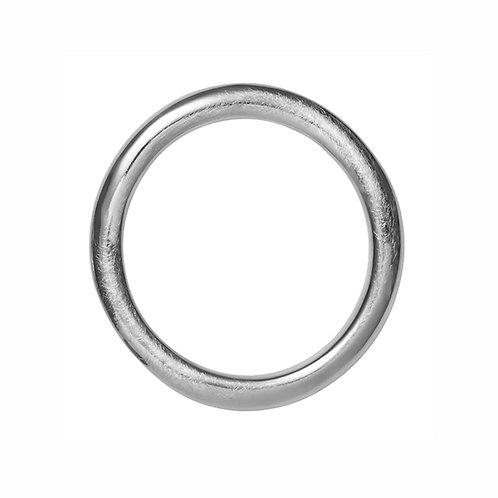 BR4533B Rhodium Silver Bracelet
