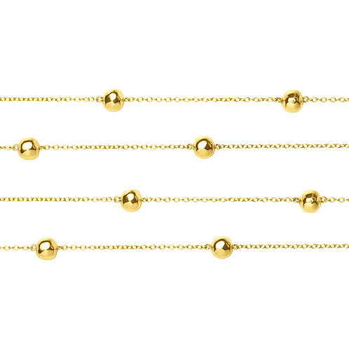 CL8555G-90 cm  Golden Ball Chanel Necklace