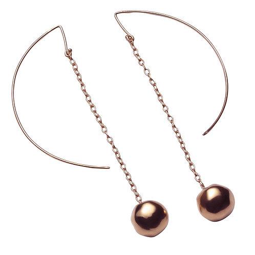 OR8556R Golden Rosè Drop Earrings