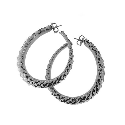 OR5808B - Rhodium Silver Earring Studio-54-Collection