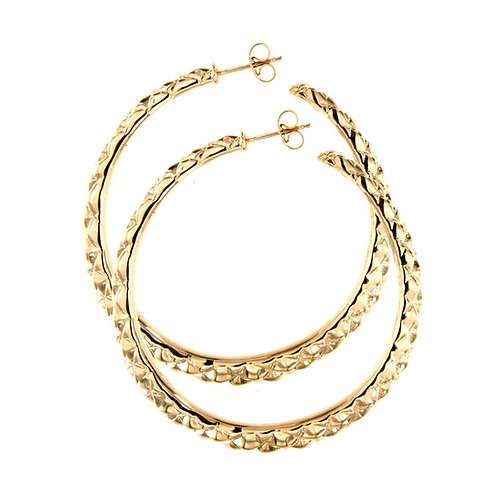 OR5831G - Golden Silver Earrings-Studio 54 Collection