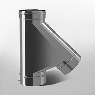 Тройник 45° Моно (диаметр 120 мм, толщина 0.5 мм)