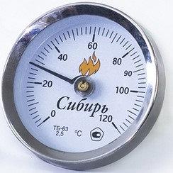 Биметалический термометр 0-120°
