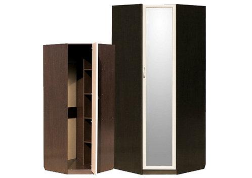 Шкаф угловой (с профилем МДФ) с зеркалом
