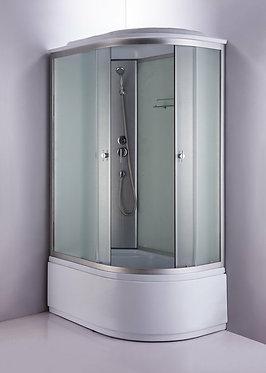 Душевая кабина 876-1 ЕL 120х80 см, высокий поддон, белое стекло, левая