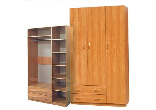 Шкаф для платья и белья 3-дверный (с профилем МДФ)