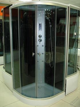 Гидромассажная душевая кабина 881, черное стекло 100х100см