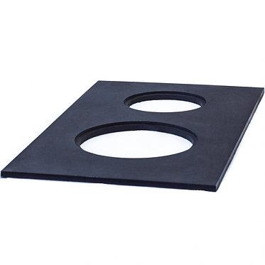 Плита стальная с двумя конфорками