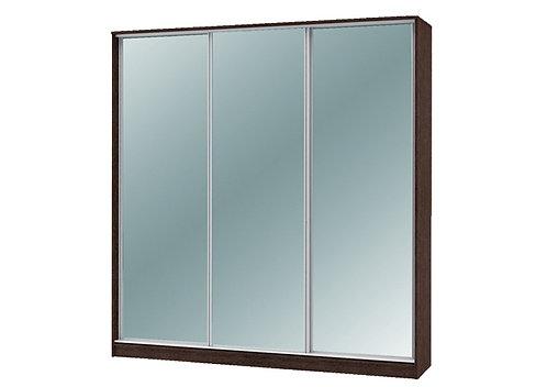 Шкаф-купе «Техно 1800 и 2100мм» с 3 зеркалами