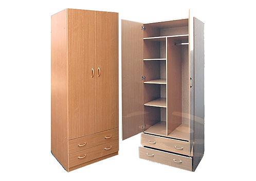 Шкаф для платья и белья 2-дверный (с профилем МДФ)