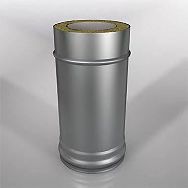 Дымоход прямой Термо (длина 1000 мм, диаметр 200/260 мм, толщина 0.8/0.5 мм)