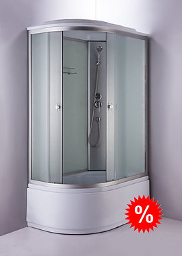 Душевая кабина 877 ЕR 120х80 см, высокий поддон, белое стекло, правая