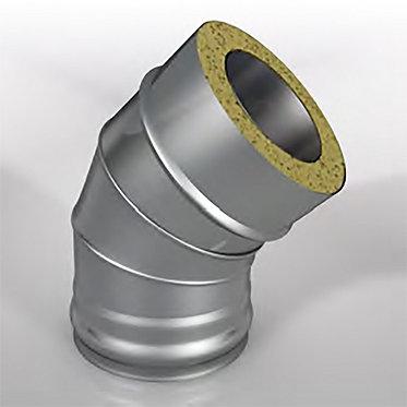 Отвод 45° Термо (диаметр 115/180 мм, толщина 0.8/0.5 мм)