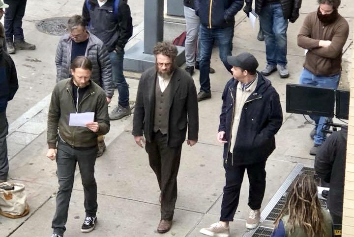 Director Brandon Trost, Seth Rogen and Ian filming a scene on the streets of downtown Pittsburgh