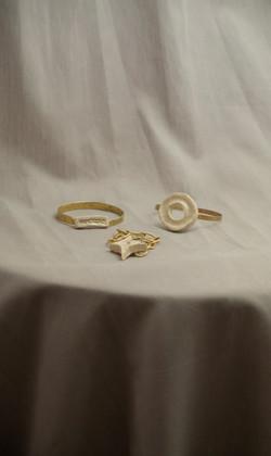 Ceramic+Brass Bangles