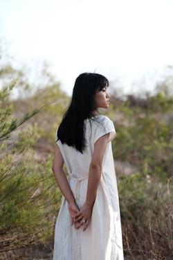 Futatsu dress - White rain
