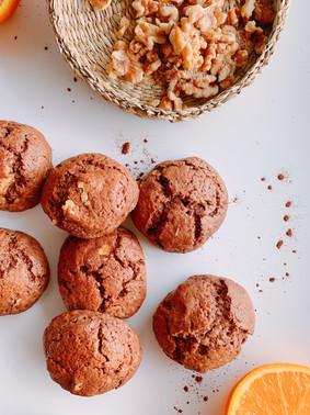 Brownie cookies de naranja y nueces