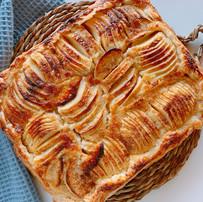 Tarta flan rústica de manzana