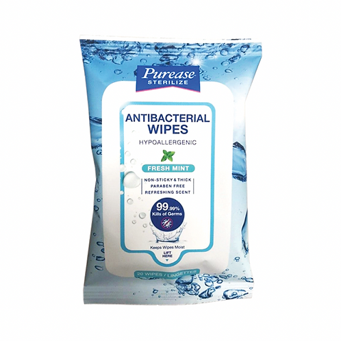 Purease Antibacterial Wipes