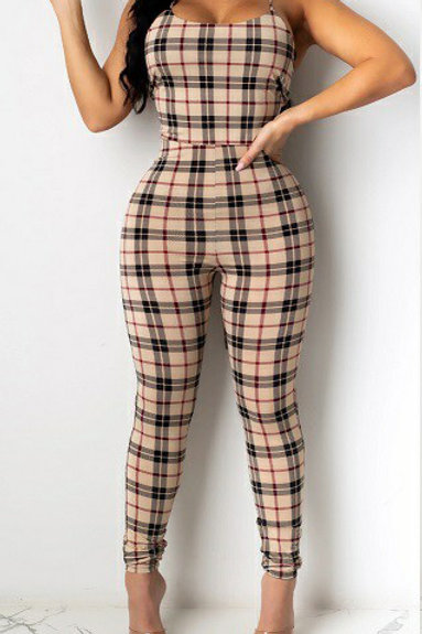 Uptown Checked Romper