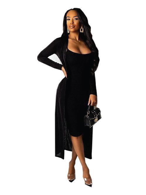 Dress +Cardigan Set
