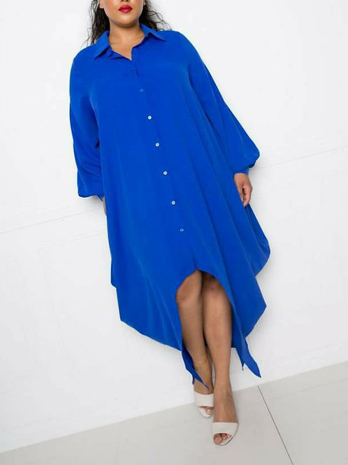 +Plus Size Long Shirt Dress