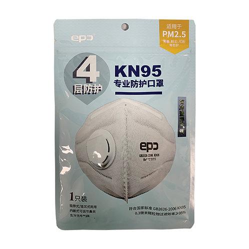 KN95 mask (+breathing valve)