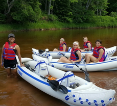 Canoeing up in the U.P.!