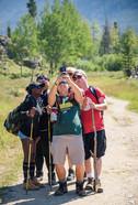 Quick selfie break during a hike