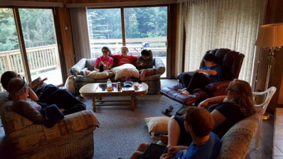 Discussion time during Northwoods trip