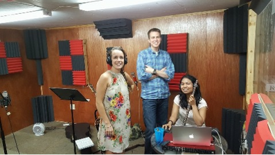 Recording some music in our own studio!
