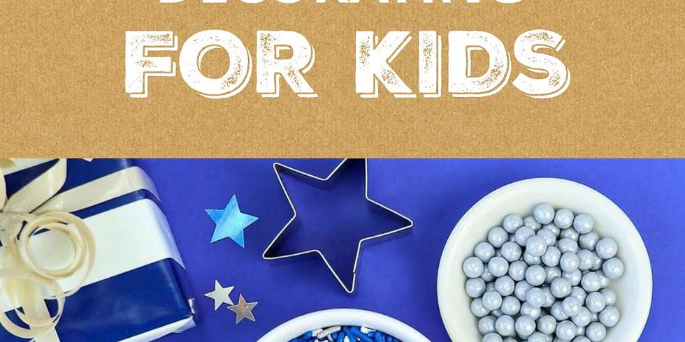 Kid's Hanukkah Cookie Decorating