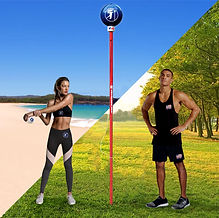 Angleball field & beach with two models