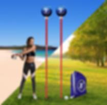 Field & Beach Angleball Sets with model.