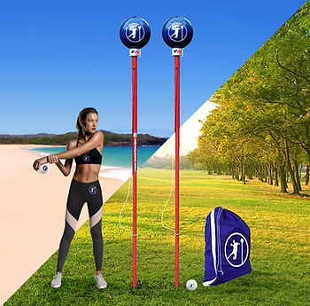 Field & Beach Angleball Sets with model.