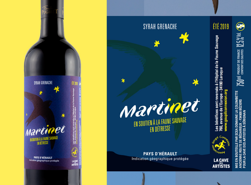 Des bouteilles de vins pour les Martinets noirs