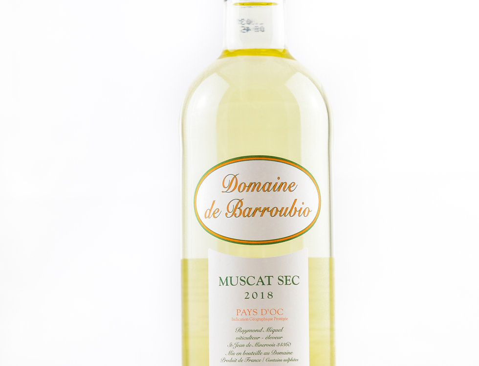 Muscat Sec Domaine Barroubio