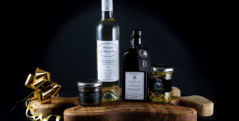 Composition  Planche, Muscat &  Huile d'Olive artisanale