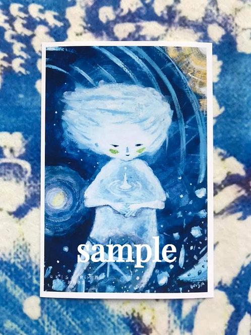 ポストカード    HISA 青い世界「お月さま」
