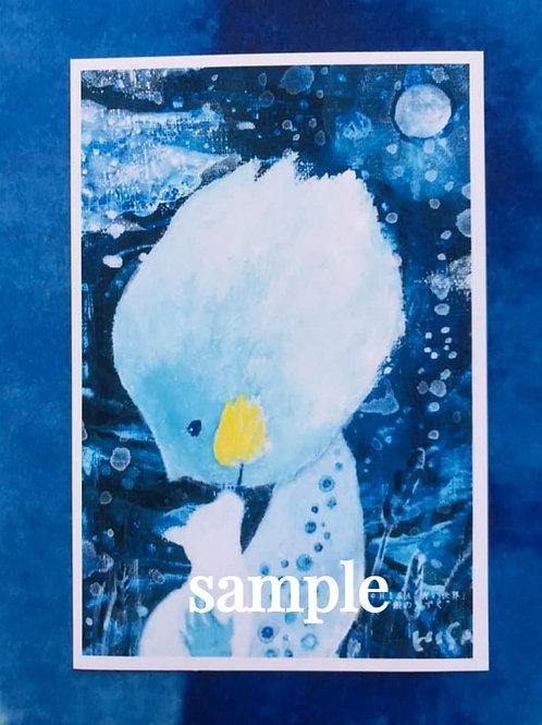 ポストカード    HISA 青い世界「月のしずく」