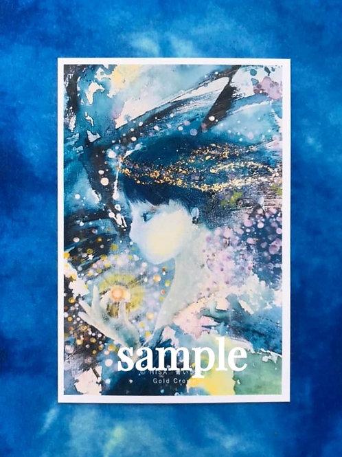ポストカード    HISA 青い世界「Gold crown」