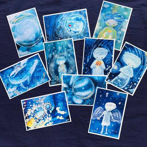 10枚入りポストカードセット    HISA 青い世界