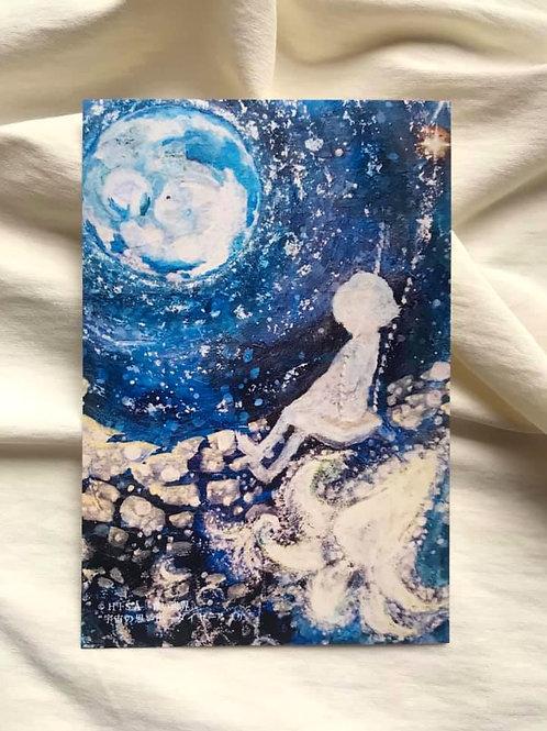 ポストカード 青い世界「宇宙の思い出」りんごからダイヤへ