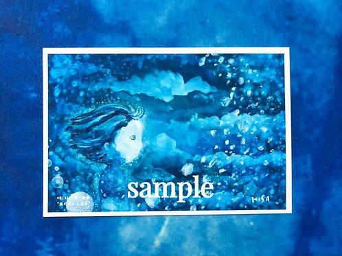 ポストカード    HISA 青い世界「星が生まれるとき」