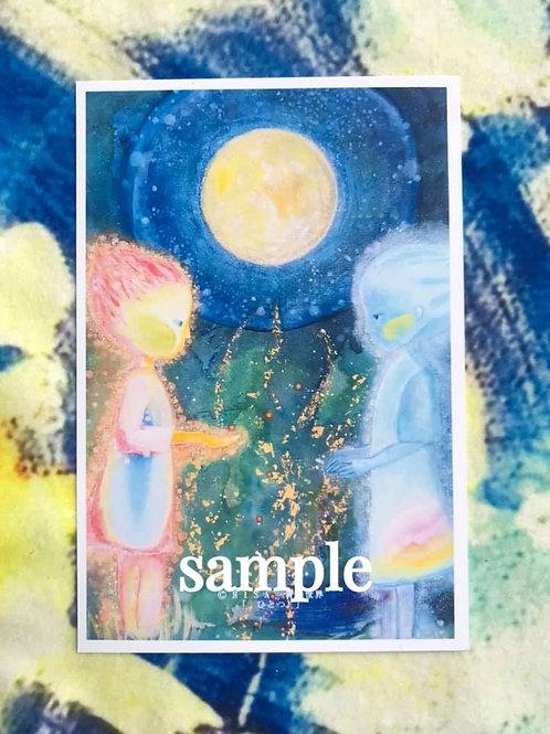 ポストカード    HISA 青い世界「ひとつ」